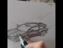 Sketch car porsche porsche911 carerra drawin Москва 27.05.2017