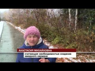 На Захарова водители маршруток высаживают пассажиров на газон