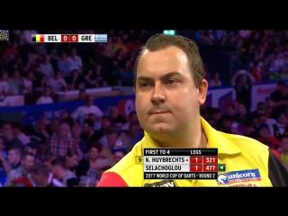 Kim Huybrechts (Belgium) vs Ioannis Selachoglou (Greece) (PDC World Cup of Darts 2017 / Round 2)