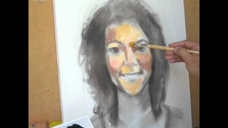 Retrato a óleo Chica al oleo Girl in oil Parte 1
