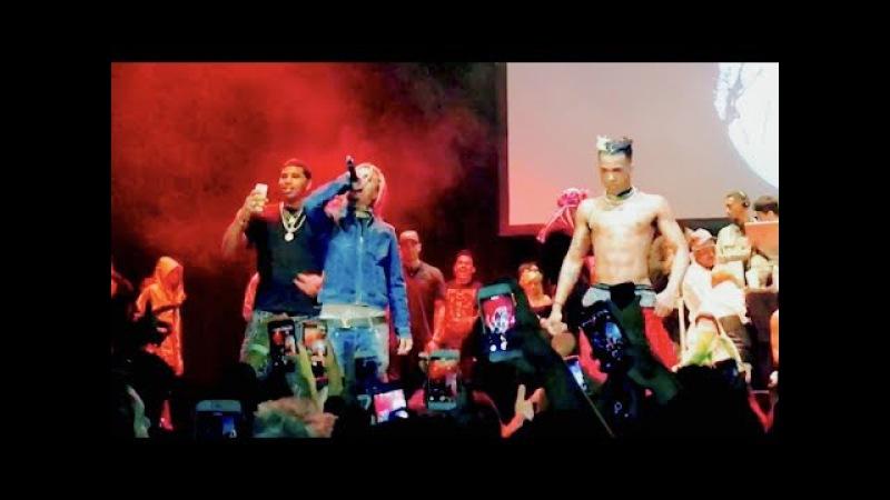 XXXTENTACION Brings Out Lil Pump D Rose Revenge Tour The Novo in LA
