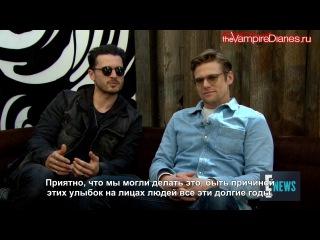 Интервью с Заком и Майклом ~ Русские субтитры