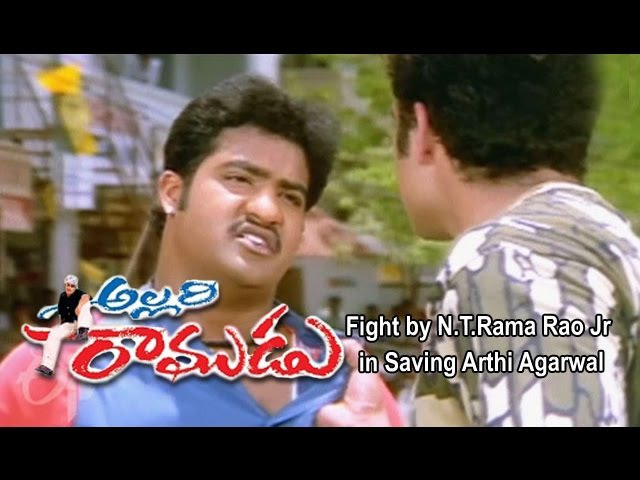 Allari Ramudu Telugu Movie Fight by Rao Jr in Saving Arthi Agarwal Gajala ETV Cinema