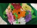 Букет из фоамирана. Герберы Bouquet of foamirana. Gerbera