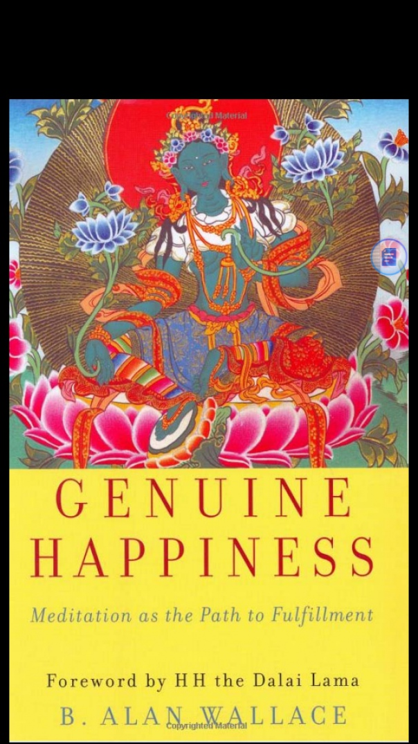 Book cover Genuine Happiness Meditation as