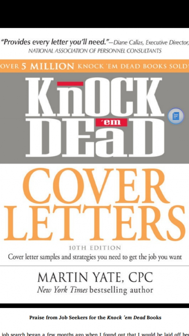 knock em dead cover letters cover letters