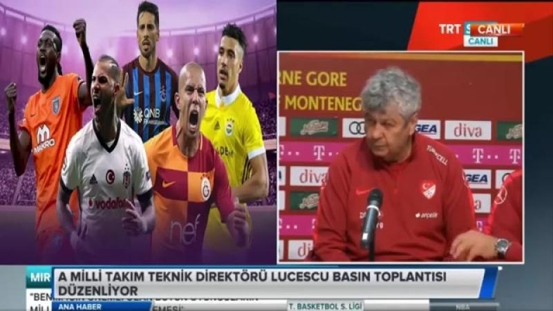 Karadağ - Türkiye Hazırlık maçı Mircea Lucescu ve Cengiz Ünder Basın Toplantısı 26 Mart 2018