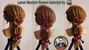 Latest Western open Hairstyle for girls latest open flowers braids hairstyle for girls 0pen style