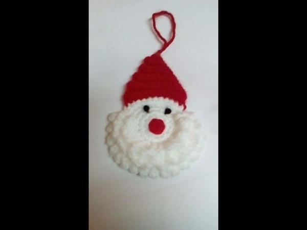 Crosetam Mos Craciun ornament pentru bradul de Craciun modelul 2