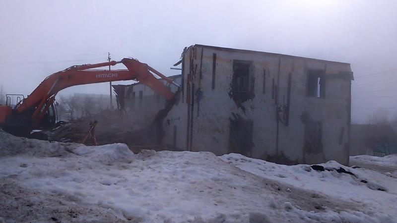 снос последнего многоквартирного каркасно-щитового дома в п.Павловка