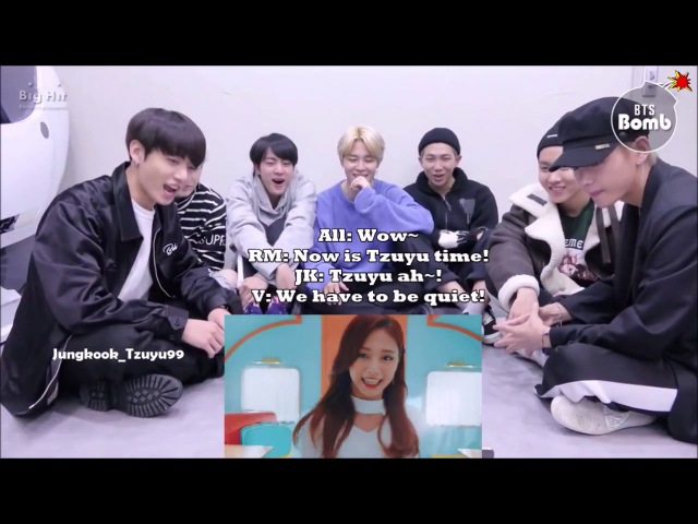 [ENG SUB] BTS reaction to TWICE 'Heart Shaker' M/V