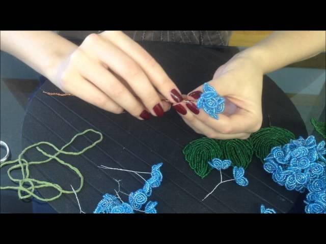 Hortensie aus Glasperlen Teil 2 2 Beaded flowers Beadwork Hobby