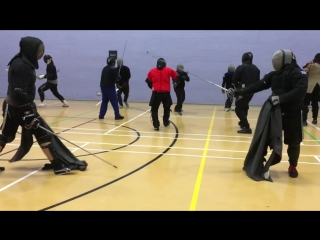 Rapier and Cloak sparring - Tom vs Nick
