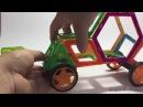 Магнитные конструкторы Магнитикон собираем гоночную машину баги