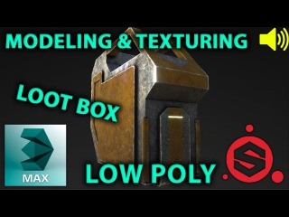 3dsMax / Substance Painter low poly loot box modeling texture(uv+texture)(magyar)HUN 3D Tutorial