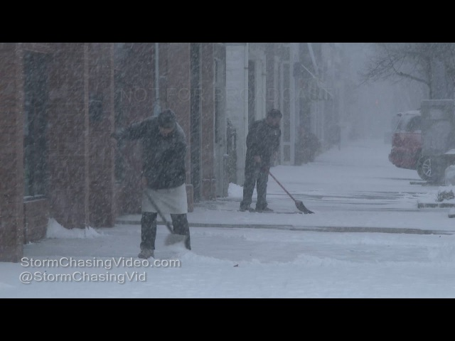 Lindenhurst Suffolk County NY Heavy Snow Nor'easter - 1/7/2017