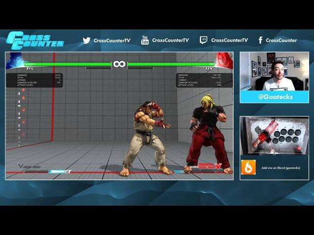 Street Fighter V 101 Обучение основам вместе с @gootecks Часть 1 Нападение Ryu