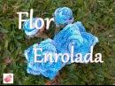 Flores de crochê Flor enrolada