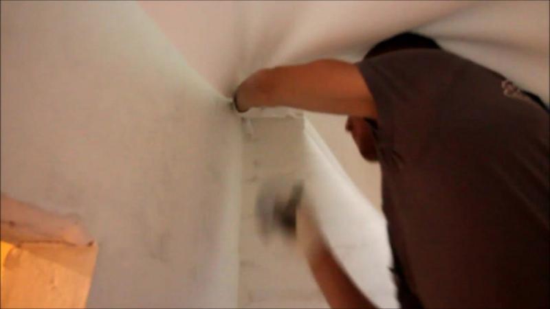 Монтаж тканевого натяжного потолка D Premium Descor
