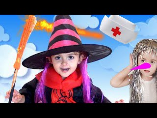 Bad Kids & Halloween! Giant Magical Play Doctor! Learn Colors and Nursery Rhymes for Kids!