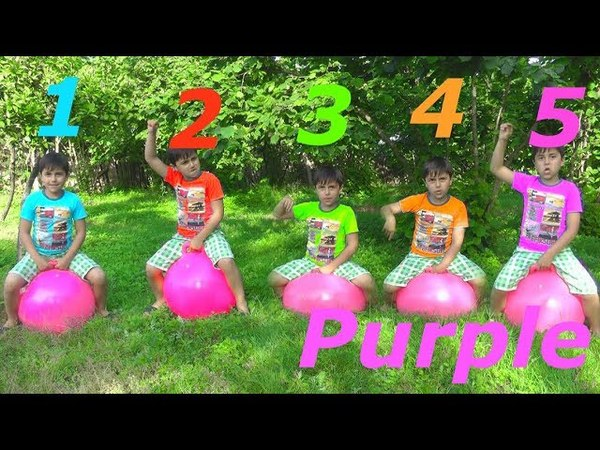 Learn T'shirt Colors w Five Little Babies Jumping On The Bad Learn Colors Education Compilations
