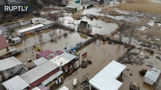 Spring is coming: River overruns thousands of homes in Volgograd, Russia