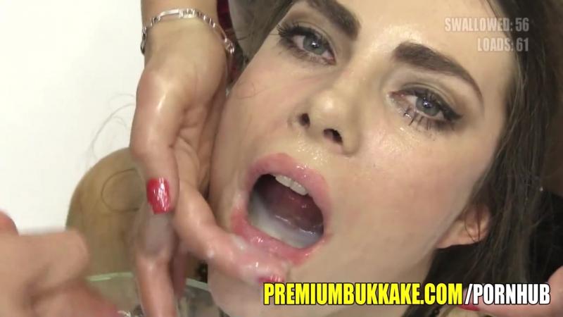 PREMIUM BUKKAKE KIRA SWALLOWS 87 HUGE MOUTHFUL CUM