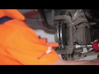 Opel zafira (опель зафира) замена передних тормозных колодок и дисков