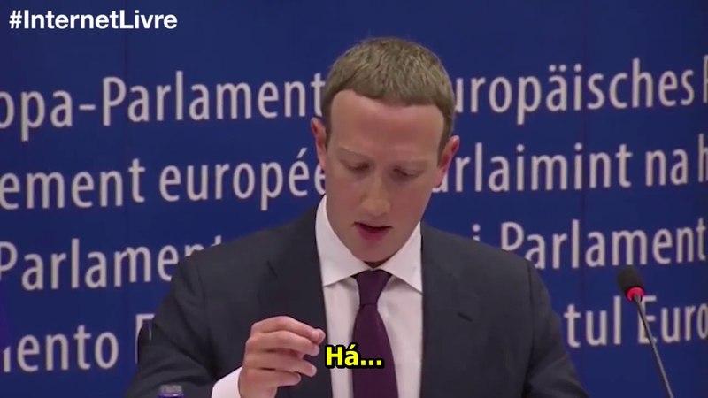 Nigel Farage questiona Mark Zuckerberg no Parlamento Europeu