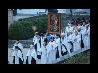 Встреча Святогорской иконы в Лавре после пребывания на Ровенщине г.