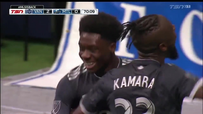 Alphonso Davies becomes the 10th youngest goalscorer in MLS history