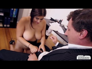 July johnson busty german secretary gets cum on her big natural tits in hot office bang