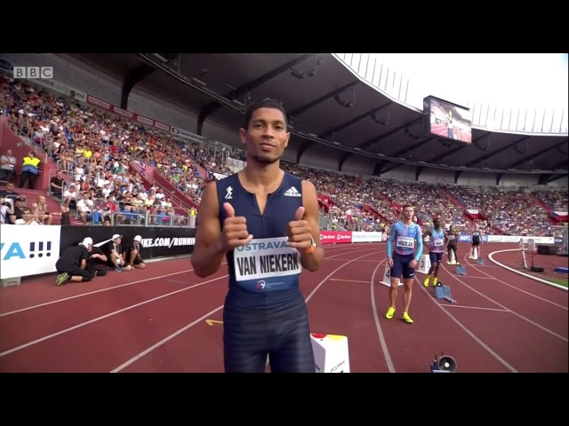Wayde van Niekerk 300m World Record 30 81 Golden Spike Ostrava 2017 English