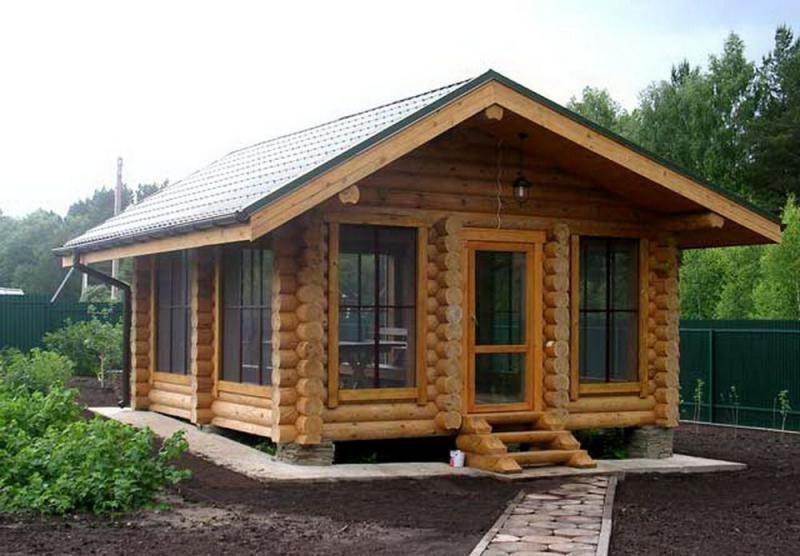 Летняя кухня из бревна для дачи: функциональное сооружение, изображение №4