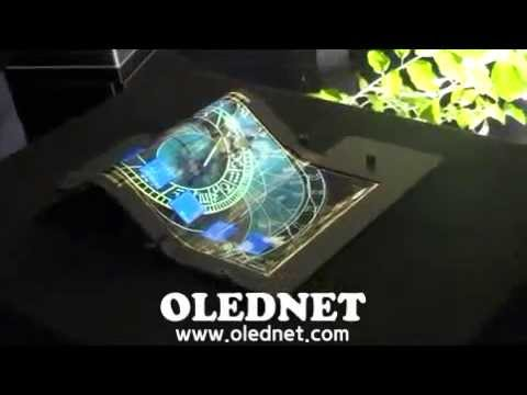 [OLEDNET] SEL의 8.7inch tri-foldable AMOLED panel with touch sensor, Display Innovation 2014