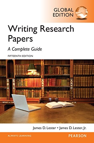 Writing Research Papers A Complete Guide- Global Edition