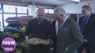 Prince Charles visits Northampton Shoe Factory