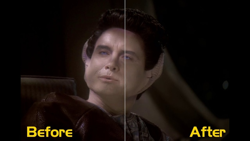 Remastered DS9 With Machine Learning - Frame by Frame Comparison (480p to 1080p)