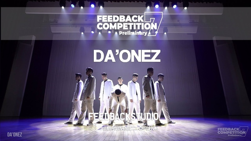 DA'ONEZ 3RD PLACE 2019 FEEDBACKCOMPETITION 7 Preliminary FEEDBACKSTUDIO