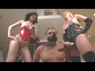Two mistress strapon fucked his ass [strapon, domination, femdom, footfetish, mistress, goddes, fisting anal, pegging]