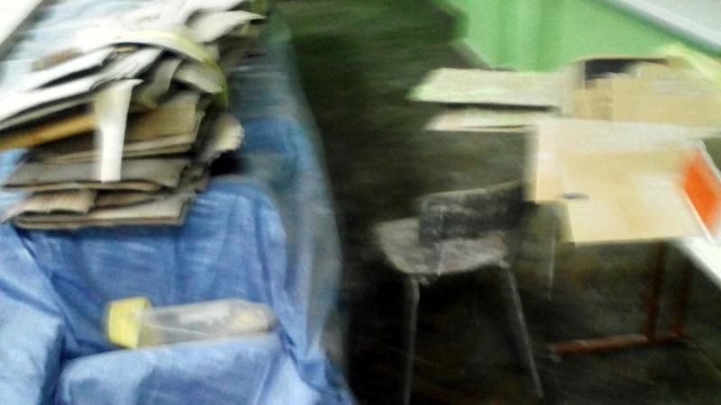 зала засідань доманівської районої ради прибирання після будівельних робіт