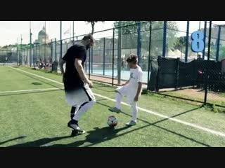 12 Футбольных упражнений на улучшение мастерства владения мяча.