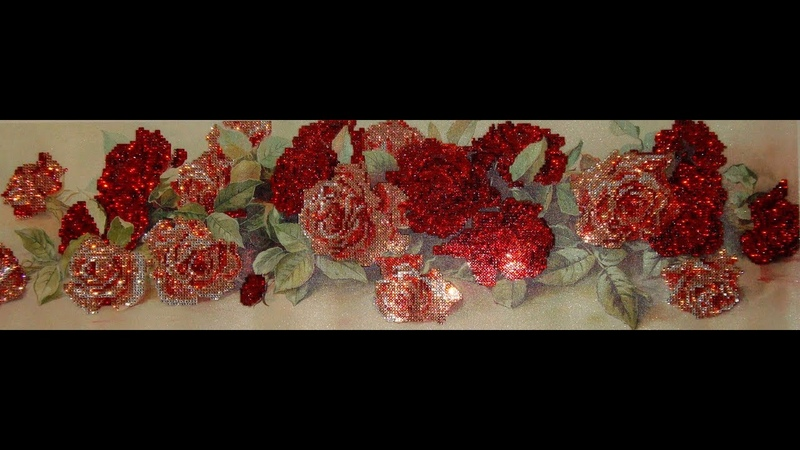 Алмазная вышивка Розы Часть 2 4 История алмазной мозаики Diamond embroidery Roses