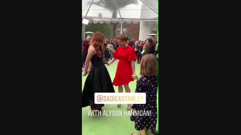 "Zach Lipovsky via instagram stories Sadie with Alyson Hannigan """