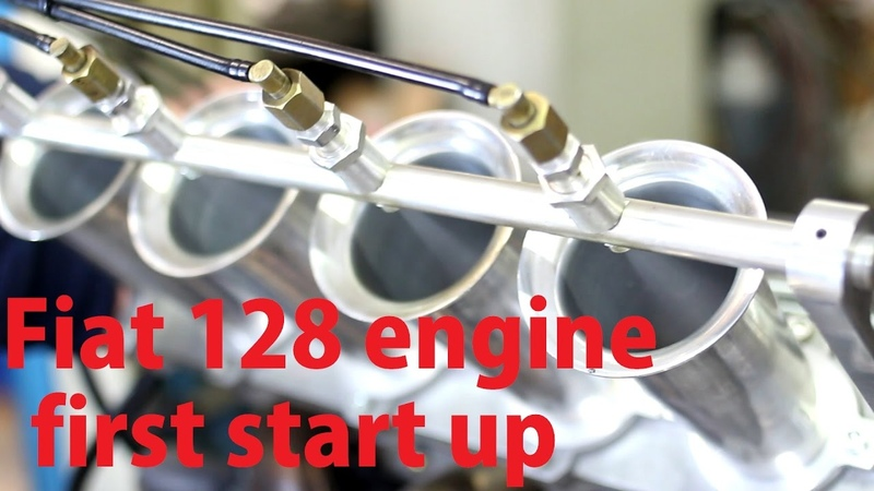 Heavily tuned Fiat 128 SOHC Race Engine First Start
