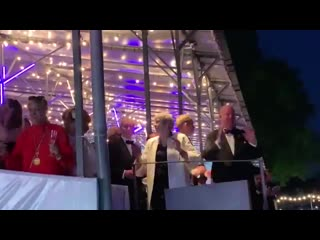 Theresa May dancing grimly to ABBA before Boris Johnson -- BORIS JOHNSON -- takes over the UK is the cursed image of our end tim