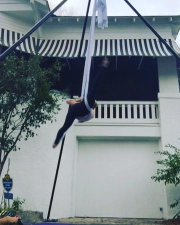 Paige Jarreau on Instagram I made something aerialarts acrobatics aerialistsofig dance splits splitsfordays flexibility aerialist aeria