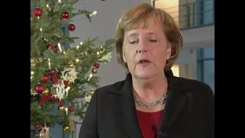Frau Bundeskanzlerin Angella Merkel schickt ihre Gluckwünsche an die Mitbürger