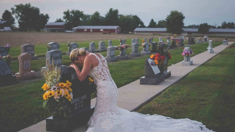 Grieving Bride Wears Wedding Dress To Fiance's Grave On The Day They Were To Marry
