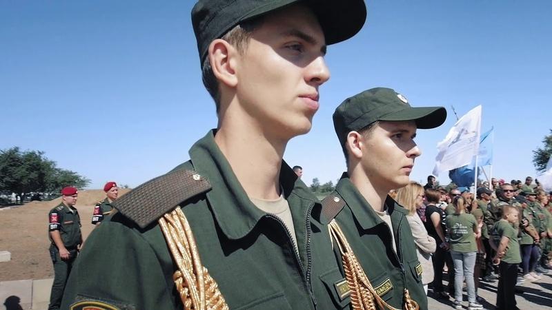 Церемония перезахоронения 841 воина на военно-мемориальном кладбище Россошки (г. Волгоград)